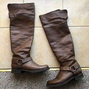 Knee High Brown Leather Frye Boots